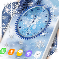 Winter Snow Clock Wallpaper