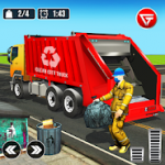Garbage Truck Trash Cleaner Driving Game